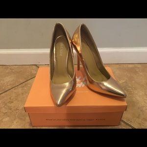dd998b78fb68 Public Desire Shoes - Public Desire Josie Rose Gold Court Shoes